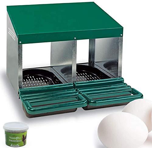 FINCA CASAREJO Ponederos para gallinas + 2 Huevos macizos de