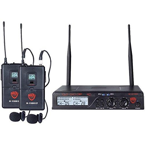 NADY U-2100 LT O (BAND A B) UHF Dual 100-Channel Wireless Lavalier Handheld Microphone System