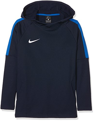 Nike Jungen Dry Academy18 Football Hoodie Pullover,Blau (obsidian/royal blue/royal blue/(white), S