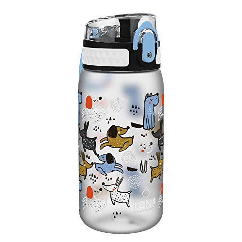 Ion8 Niños Botella Agua, Sin Fugas, Cachorros, 400ml