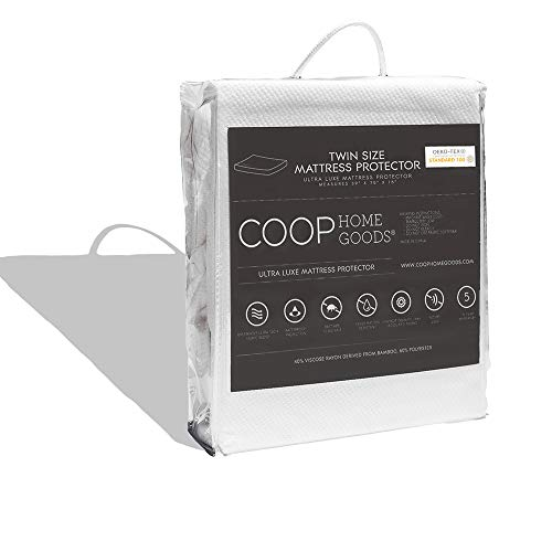 COOP HOME GOODS – Mattress Protector – Soft and Noiseless  Waterproof and Hypoallergenic  Protect Your Mattress Against Fluids/Spills/Mites/Bed Bugs  OekoTEX Certified Lulltra® Fabric  Twin