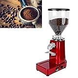 Shanrya Molinillo de Granos de café, Molinillo de café, 1l Silo de Granos de Gran Capacidad para restaurantes caseros Tiendas de té con Leche Cafeterías(Rojo, Rosado)