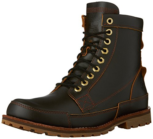 Timberland Men's Original Leather 6 Inch Boot, Dark Brown Full Grain, 11 M US