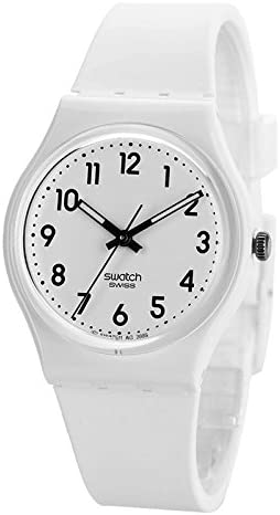 Swatch New Core Quartz Silicone Strap, White, 16 Casual Watch (Model: GW151O) WeeklyReviewer