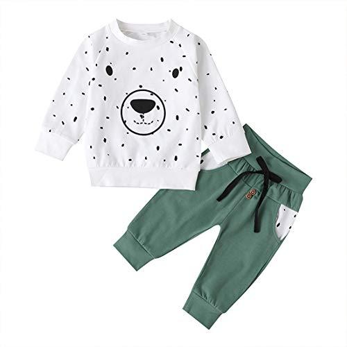 Bebé niños Dibujos Animados Oso Tops Pantalones Trajes Sudadera de Manga Larga pulóver Pantalones para Correr Ropa para niños Conjuntos
