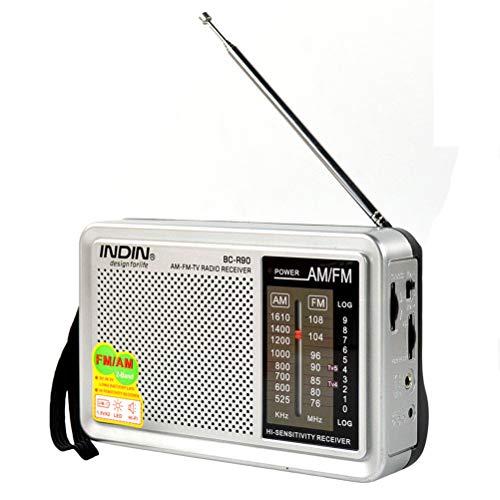 Radio de Bolsillo Am FM portátil pequeña con Buena recepción, con Pilas,...
