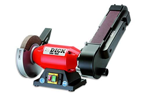 F. DICK Bandschleifmaschine SM-100 (Bandschleifer für Messer, Ballig- und Keilschliff, Filzpolierscheibe zum Abziehen und Polieren) 98070000