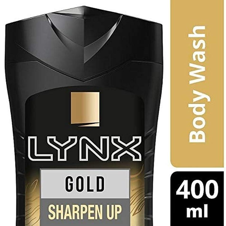 趣味置換高速道路[Lynx ] オオヤマネコの金Oudwood&バニラシャワージェル400ミリリットル - Lynx Gold Oudwood & Vanilla Shower Gel 400ml [並行輸入品]