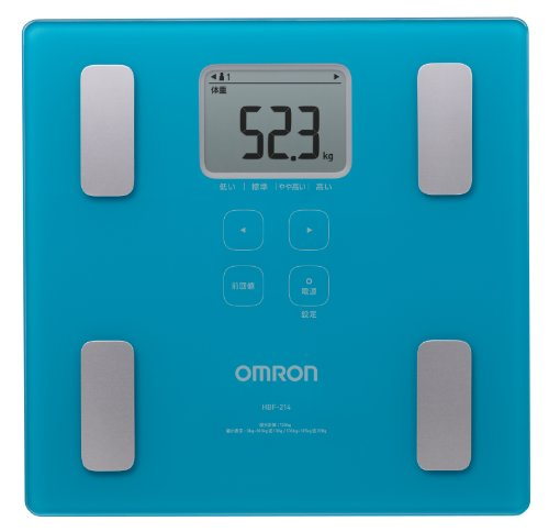 Omron HBF-214-B Mechanical Personal Scale Plaza Azul báscula baño - Báscula de baño (Báscula de baño analógica, kg, Plaza, Azul, LCD, 285 mm)