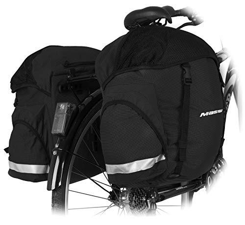 Massi Alforja Doble para Bicicleta CM222 Tecnica Bolsa, Deportes y Aire Libre, Negro, U