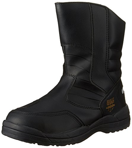 [マルゴ] 安全靴 作業靴 鋼製先芯 反射素材 ブーツ ハイカットセーフティー 170 BK 25 cm