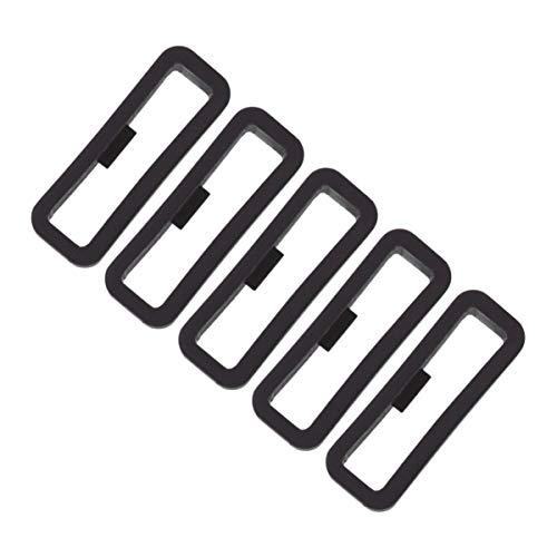 ibasenice Verschlussring Kompatibel mit Garmin Fenix 5s Armband - 5er-Ring Silikonbandhalter Sicherheitsschlaufe Bandstabiler Ring Bewegliche Ringpositionierungsschnalle 20mm