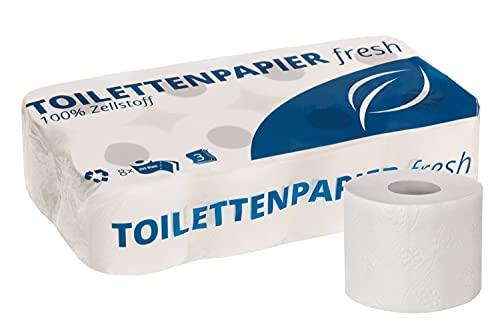 Toilettenpapier Premium 3-lagig   Vorteilspack mit 72 Rollen Klopapier   extra weich, reißfest und 100% CO2-neural   Vorratspack, 9 x 8 Rollen   aus hochwertigem hochweißen Zellstoff