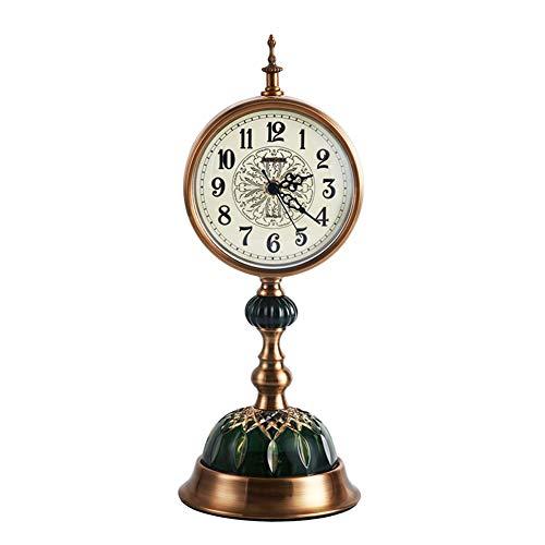 Reloj De Pared Reloj de casa retro for sala de estar, reloj de escritorio, decoración, mesita de noche creativa for el hogar europeo, reloj, decoración Relojes De Pared Heart Forest GQ12 ( Color : 4 )