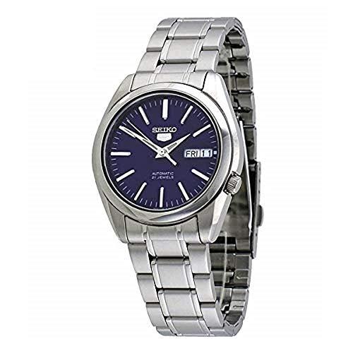 Seiko Herren Analog Automatik Uhr mit Edelstahl Armband SNKL43K1