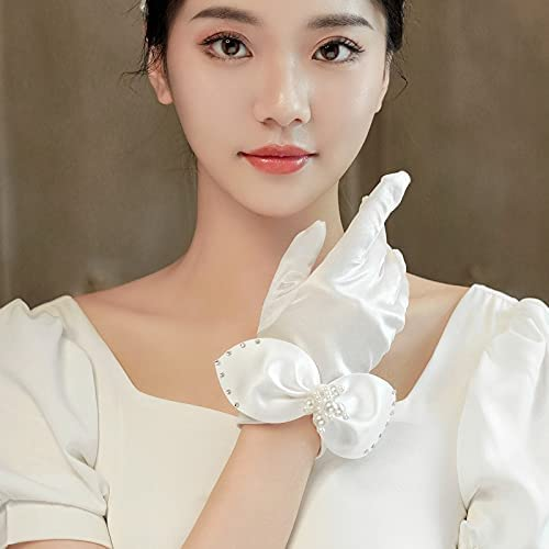 Tgnk Lowest Challenge the lowest price of Japan price challenge Marriage Short Gloves Fairy haired Accessories Col Wedding