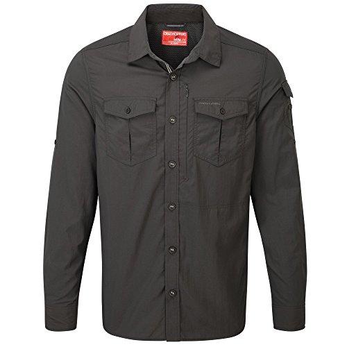 Craghoppers NosiLife Adventure Langarm Hemd Men - Outdoorhemd,black pepper 7J8,EU 48