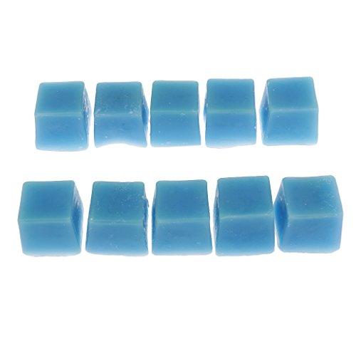 Hellery Cubos de Cera para Derretir Perfumados Hechos a Mano, Cera de Parafina Derretida Altamente Perfumada, para Quemador de Aceite, Paquete de 10 Cubo - Azul, Individual