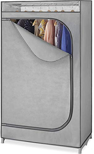 Whitmor Portable Wardrobe Clothes Storage Organizer Closet with Hanging Rack – For Home, Dorm,...