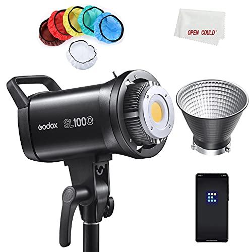 Godox SL100D 100W 5600K 100W Bianco Versione LCD Pannello Video LED Uscita continua Bowens Mount Studio Light (Godox SL100D)