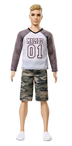 Barbie FNH40 Ken Fashionistas Puppe im Camouflage-Look