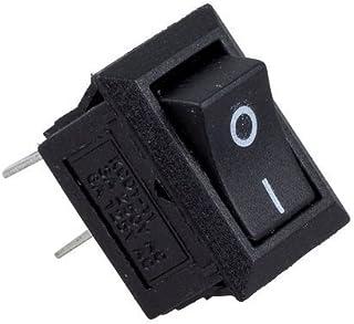 D -101 Interruptor de palanca SPST ON-Off 2 Terminal pin 12 VDC 25 A con tapa impermeable paquete de 2 piezas BOJACK KN3