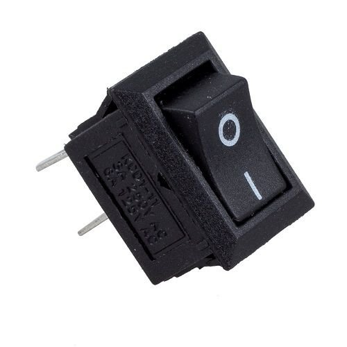 CABLEPELADO Interruptor universal 2 pin on-off Negro 3 A