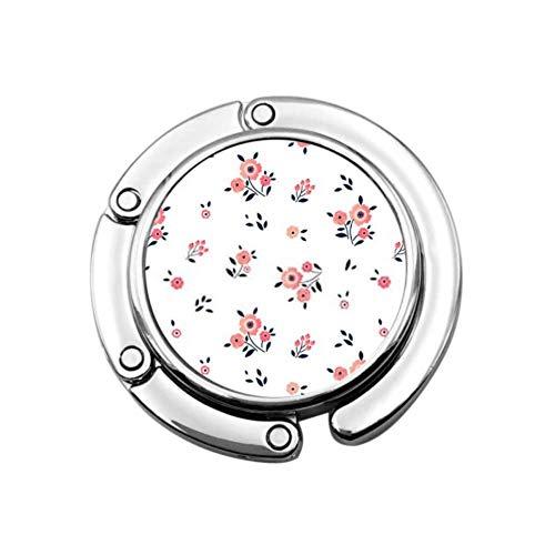 Purse Hook Cute Floral Pattern Small Flower Ditsy Foldable Handbag Hooks Folding...