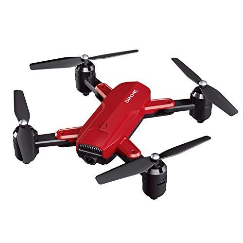 RC Drone Quadrirotor Télécommandé Pliable FPV WiFi avec Caméra HD 720P/1080P 4K, 4 CH, Photo de Geste, Image Permettant de Prendre des Photos ou des Selfies Drone avec Caméra Potensic,Rouge,1080P