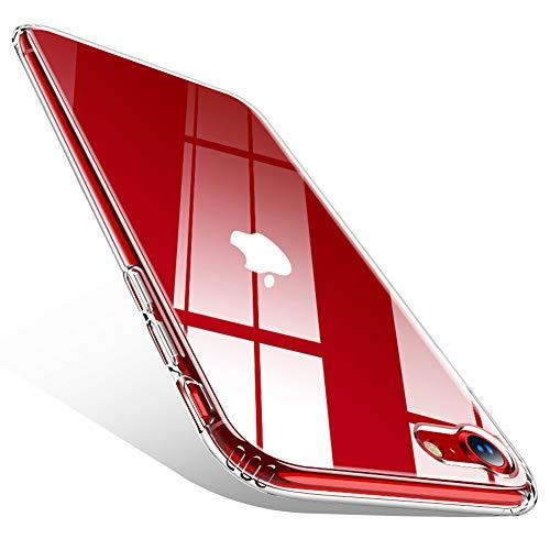 CAFELE - Funda para iPhone SE 2020 / iPhone 8/7 de segunda generación de 4,7 pulgadas, funda de TPU suave, a prueba de golpes, transparente, funda para iPhone SE/8/7, transparente
