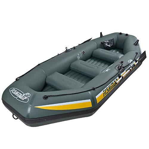 YX-ZD Acqua Kayak, PVC Singolo Kayak, Barche A Remi Sport Gonfiabile Barca di Pesca Zattera con A Pedale Pump & Remi, Pieghevole Gonfiabile Pesca Barca alla Deriva della Nave