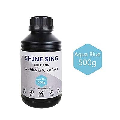SHINE SING 3D Rapid Resin LCD UV-Curing Resin 405nm Standard Photopolymer Resin for LCD 3D Printing 500Gram Aqua Blue