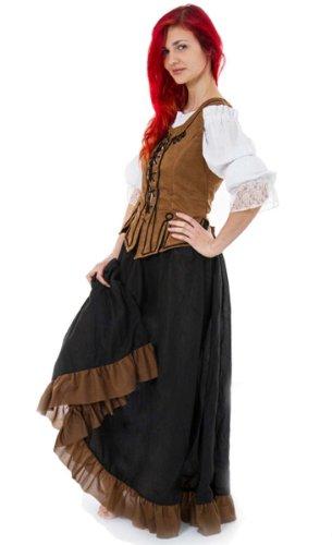 Maylynn 12234 - Costume médiéval Demoiselle NEA - Serveuse/Paysanne - 3 pièces - 42/44