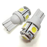 RX-8 SE3P T10 LED ポジションランプ ナンバー灯 ルームランプ バックランプ 汎用 純正交換 バルブ led5連 拡散 白 ホワイト 2個セット