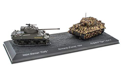 IXO/ALTAYA/ATLAS World of Tanks Panzerset Normandy Tiger I vs. Sherman Fertigmodelle 1:72