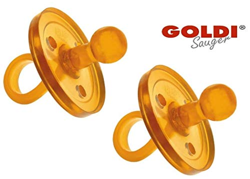 2er SPARPACK Original Goldi Sauger Kirschform/Naturform RUND DoppelPack (S (0-3 Monate))