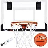 JAPER BEES Indoor Mini Basketball Hoop Over The Door & Wall Mount Indoor Basketball Hoop w/Shatterproof Backboard(Mini Pro) …