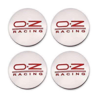 Tapa del Centro de la Rueda para 4 unids 56mm OZ Racing Coche Centro de ruedas del centro de la cubierta de la tapa de la tapa del emblema automático Pegatina Compatible con el polo Beetle Golf 4 5 6