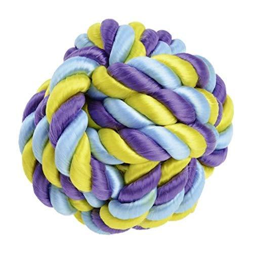 HINRI Robuster Hundeball (S) aus stabilem Seil | 100% frei von Schadstoffen | Hundespielzeug mit Zahnpflege-Funtion