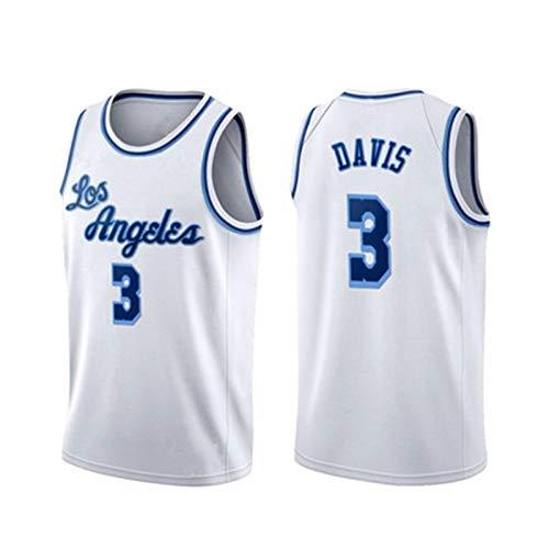 Lakers Davis #3 Basketbalshirt voor volwassenen, mannen jeugd buitenkleding zwart wit geel blauw wit wit wit wit