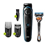 Braun - 81705178 - BT3240 Beard and Hair Clipper, 39 Length Adjustments, Black/Blue