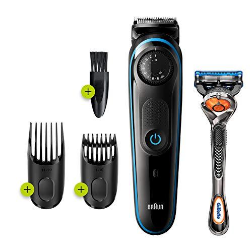 Braun – 81705178 – BT3240 Bart- und Haarschneider, 39 Längeneinstellungen, Schwarz/Blau