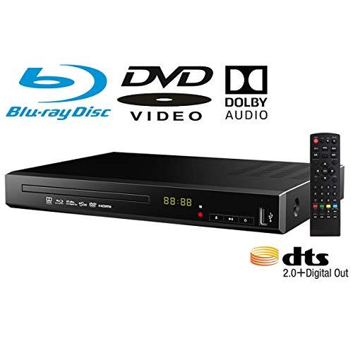 ブルーレイプレーヤー DVDプレーヤー 据え置き 高画質 HDMI端子搭載 SDカード BD対応 日本語説明書 リモコン付き 【国内メーカー12カ月保証】 t007