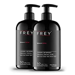 👚 LONG LASTING DETERGENT THAT'S SAFE FOR YOU: - FREY's powerful concentrated laundry detergent liquid is formulated to last a long time and is also made without harsh ingredients, making it safe for you and for your clothes. The perfect pairing to ou...