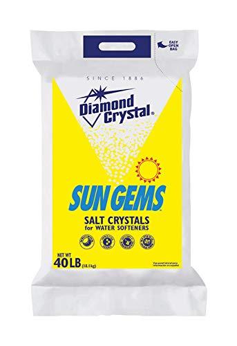 Diamond Crystal Sun Gems Water Softener Salt Polybagged 40 Lb.