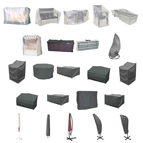 Ribelli® Beschermhoezen voor tuinmeubelen, waterafstotend, bescherming tegen weer en wind, afdekhoes voor parasol, tuinbank, tafel grijs