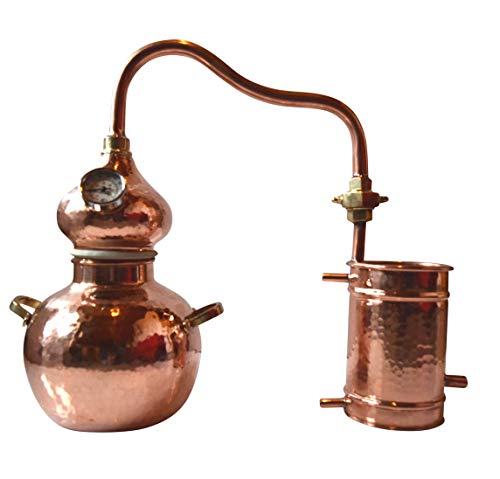 Dr. Richter Destille Alambic Classico aus Kupfer 2L mit Thermometer High-End Destillieranlage