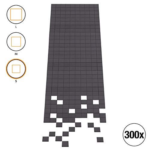 Amazy Magnetplättchen 300 Stück (Stärke 1,8 mm) – Selbstklebend und haftstark zur unsichtbaren Befestigung von Postern, Fotos und Bilder (10 x 10 mm | 300 Stück)
