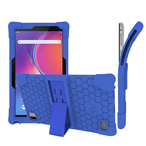 Transwon Silicone Case Compatible with Vankyo MatrixPad S7 7 Inch Tablet, Winnovo TS7/ T7 Pro, VUCATIMES N7 Tablet, Vankyo MatrixPad Z1, Dragon Touch M7, Pritom Tronpad P7, HAOQIN H7Pro - Navy