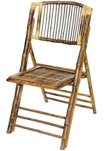 Mobiliario Factory Silla Bambú Plegable, Silla Ratan con Estilo Tropical, Silla terraza